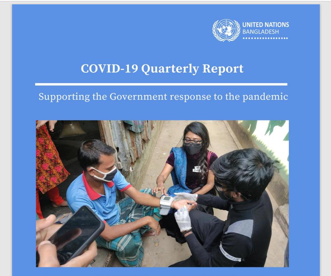 UN Bangladesh COVID-19 Quarterly Situation Report- Q4 2020